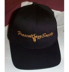 Black Flexfit Cap w/Gold PJS Logo