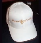White Flexfit Cap w/Gold PJS Logo