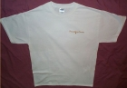 White Tee Shirt w/PJS Gold Pocket Logo